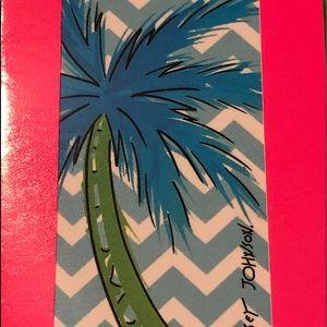 NWT•Betsy Johnson kids palm/chevron beach towel